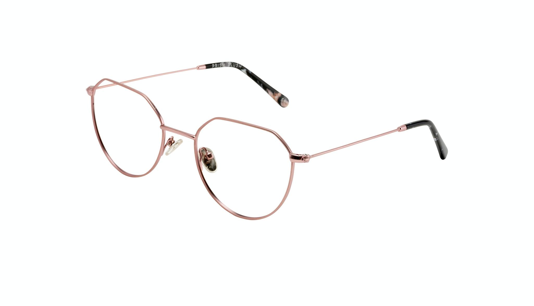Affordable Fashion Glasses Round Eyeglasses Women Prism Blush Tilt