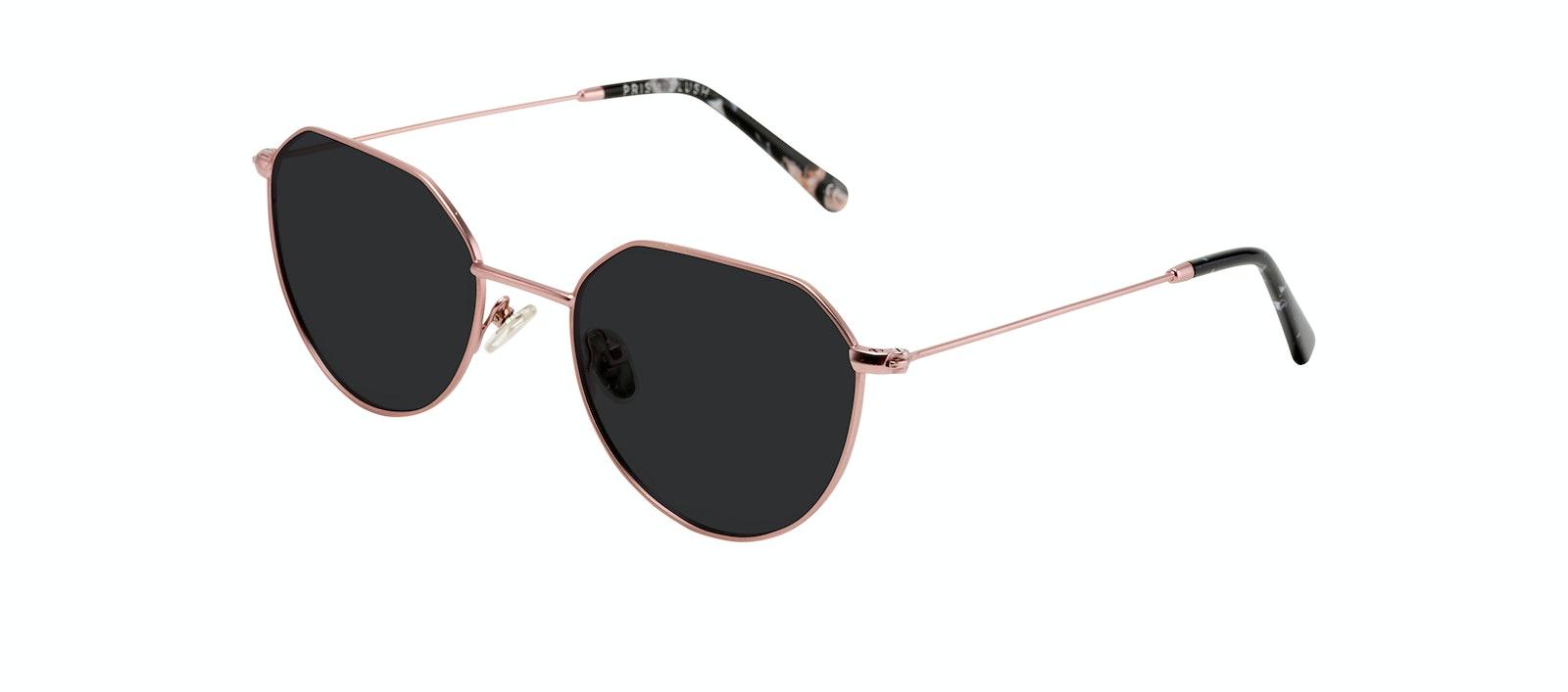 Affordable Fashion Glasses Round Sunglasses Women Prism Blush Tilt