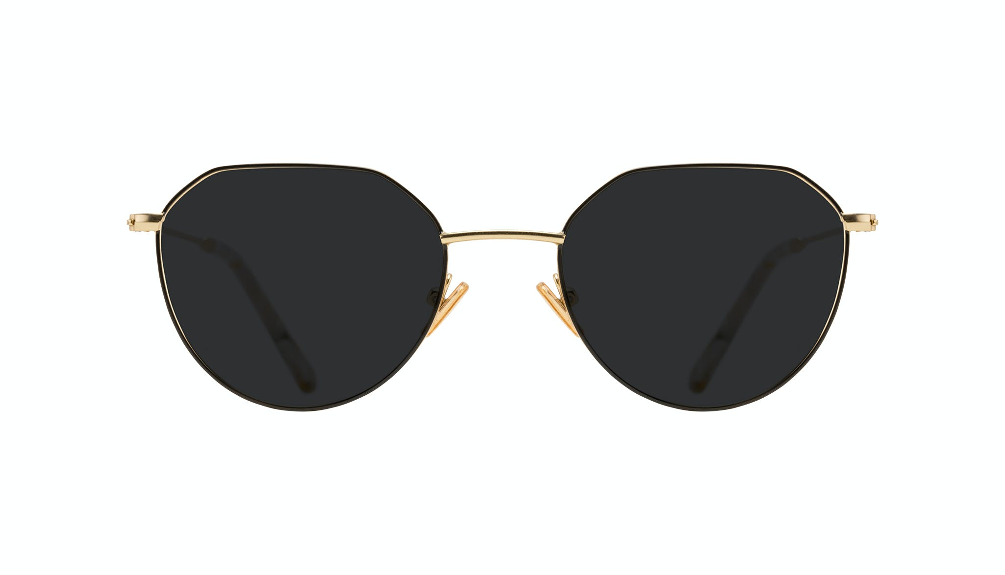 Affordable Fashion Glasses Round Sunglasses Women Prism Deep Gold Front
