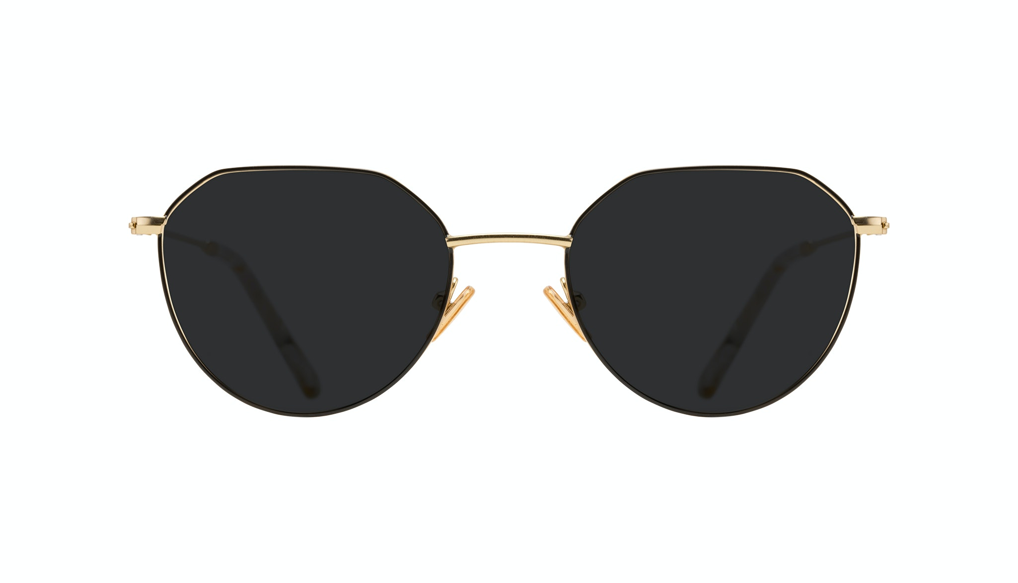 Affordable Fashion Glasses Round Sunglasses Women Prism Deep Gold