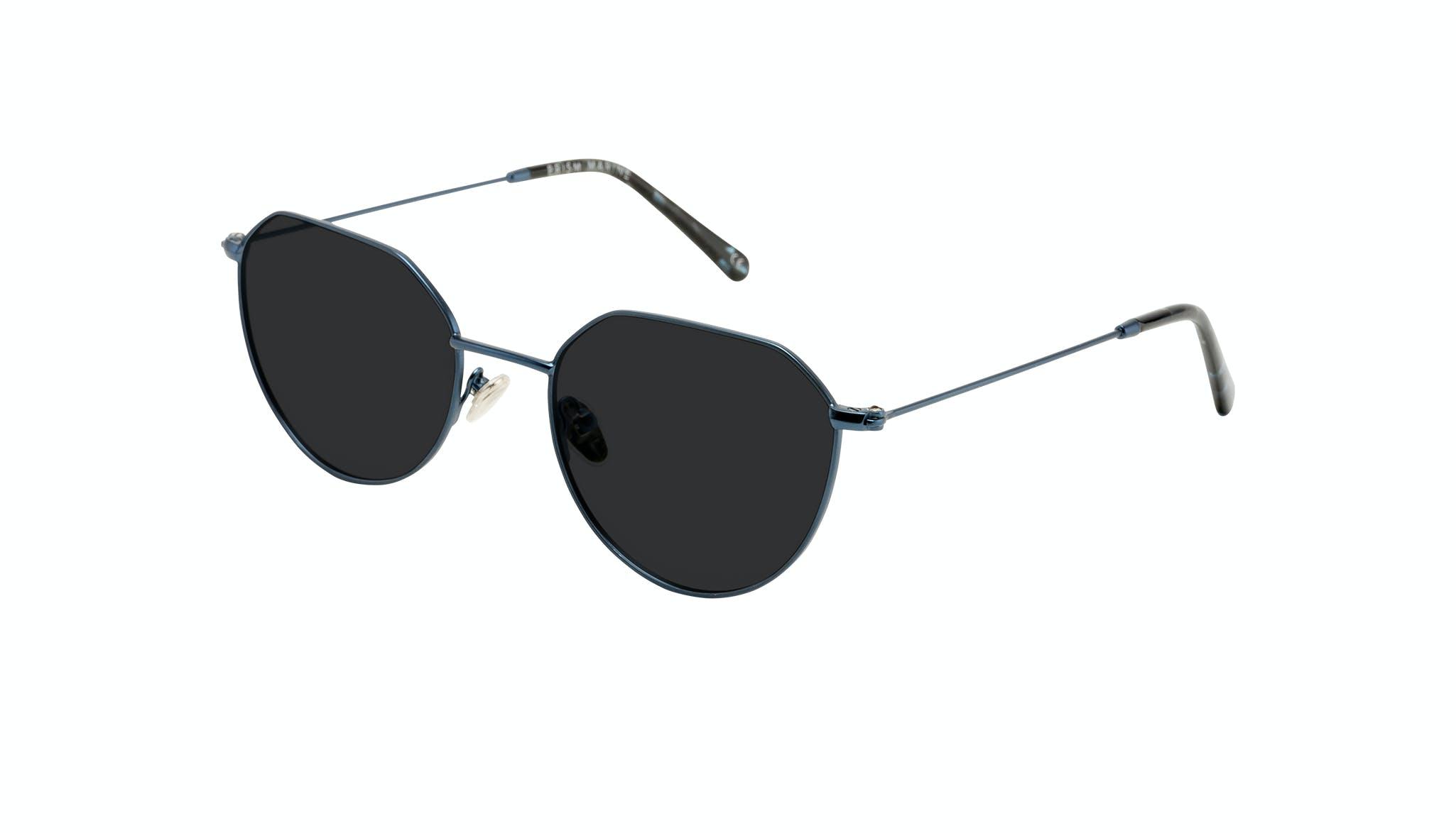 Affordable Fashion Glasses Round Sunglasses Women Prism Marine Tilt
