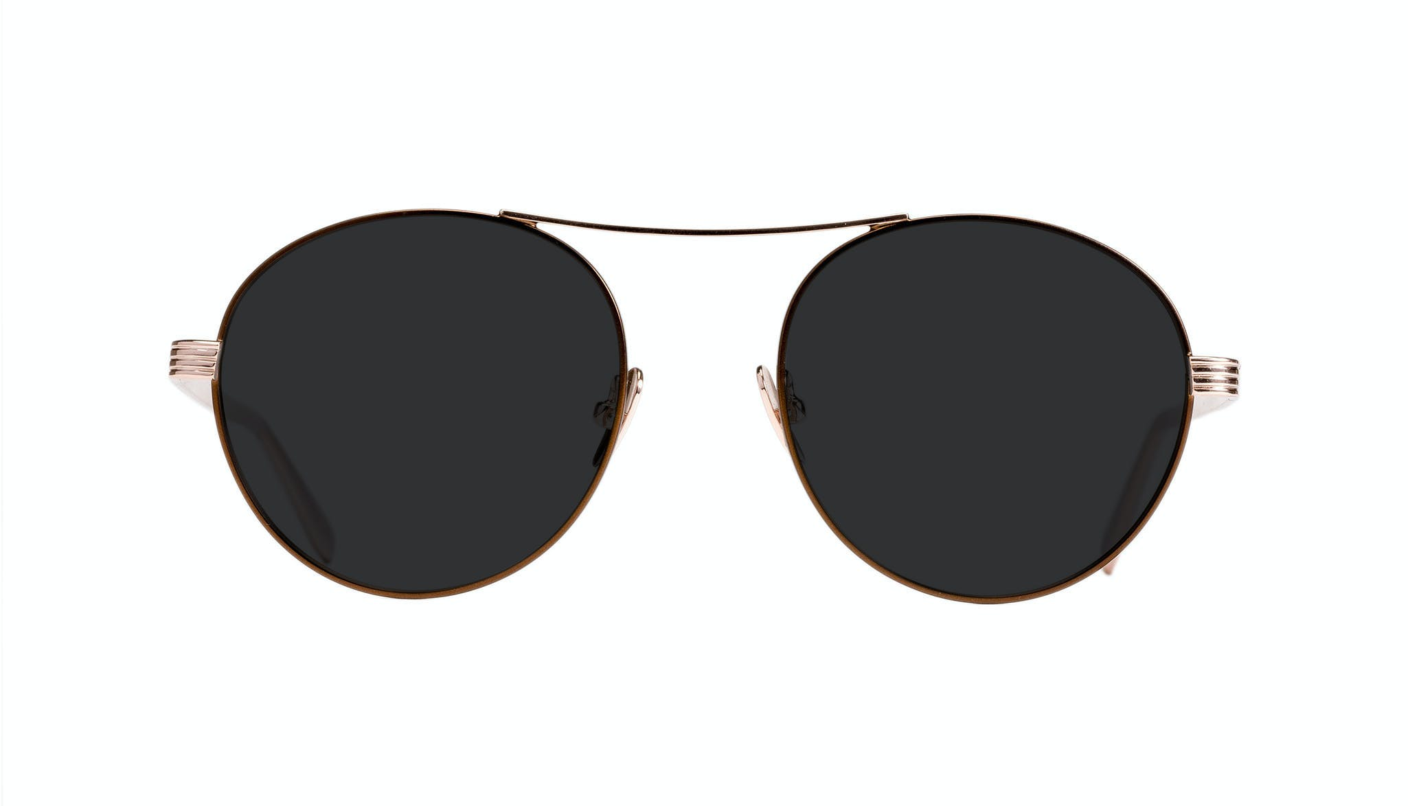 Affordable Fashion Glasses Round Sunglasses Women Prize Golden Lilac Front