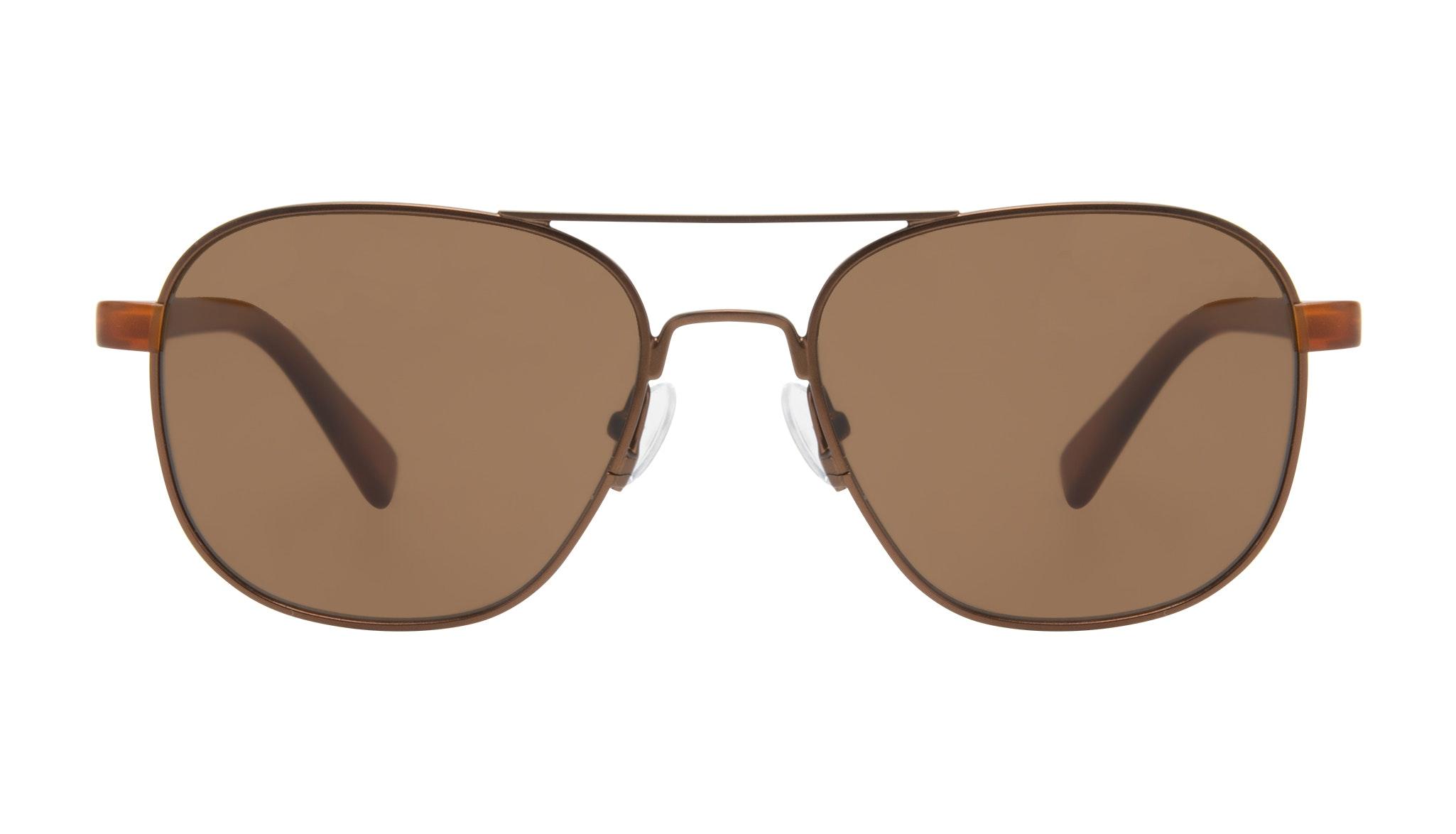 Affordable Fashion Glasses Aviator Sunglasses Men Pulse Brass Front