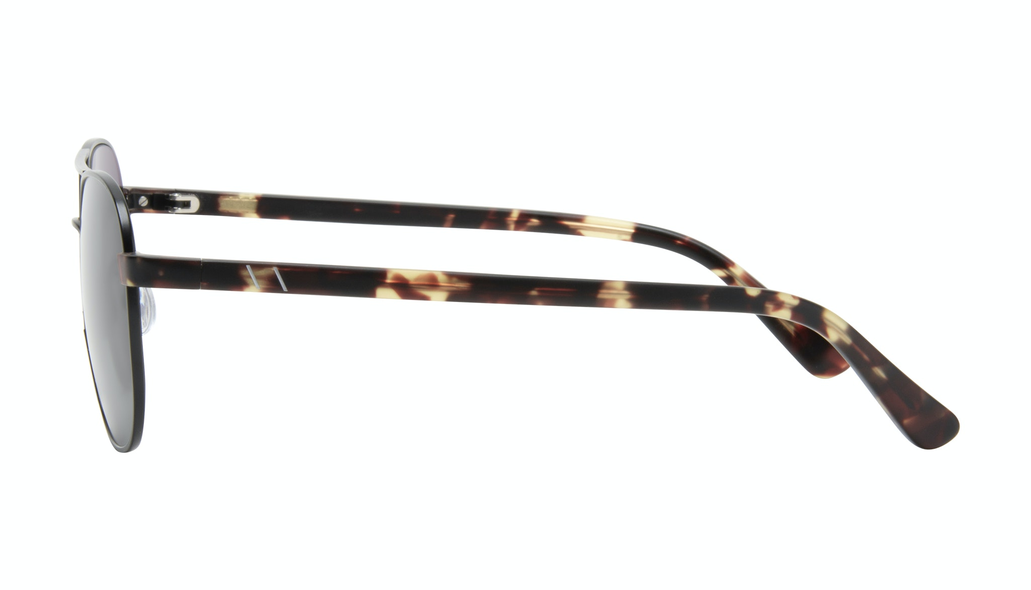 Affordable Fashion Glasses Aviator Sunglasses Men Pulse Gun Metal Side
