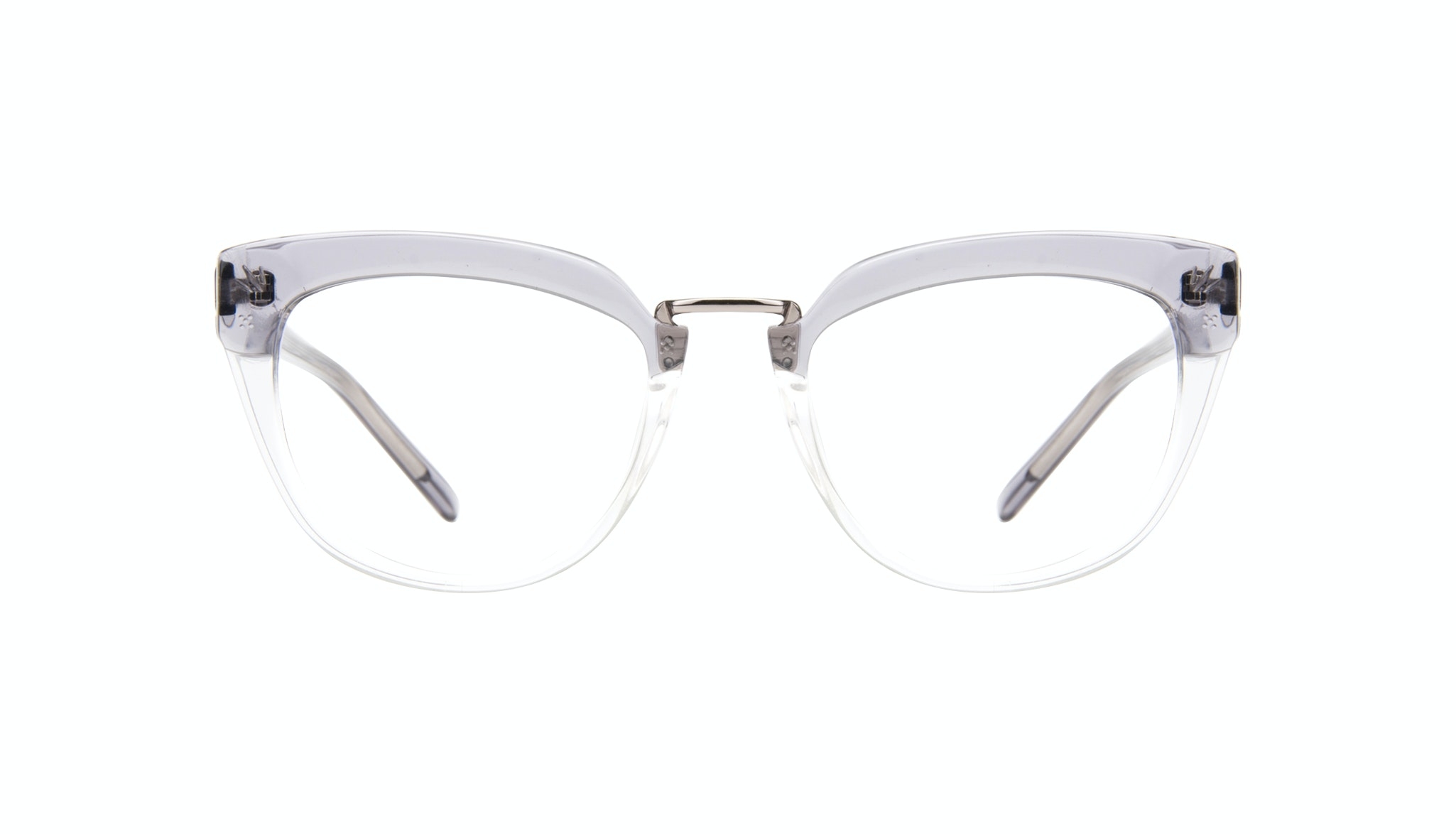 Affordable Fashion Glasses Cat Eye Daring Cateye Eyeglasses Women Pure Grey Front