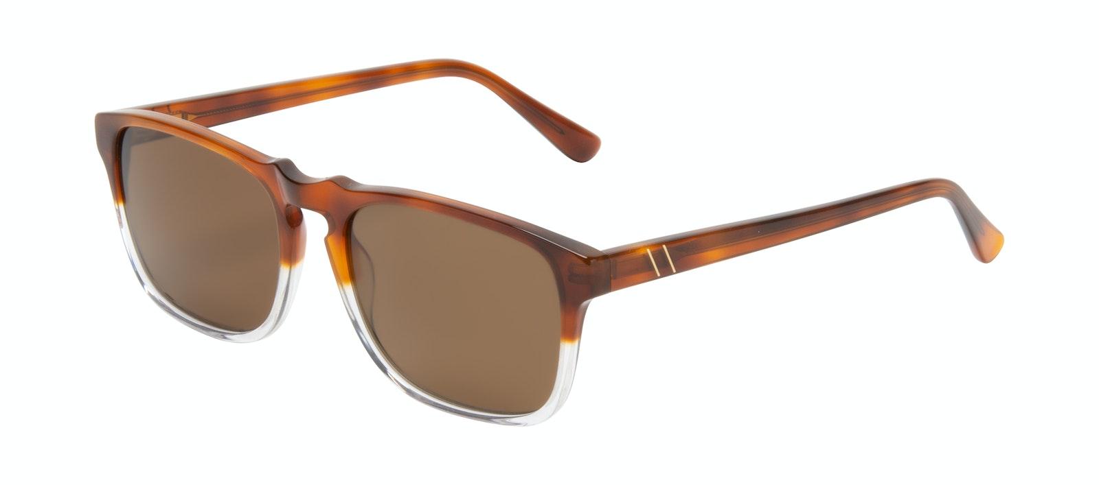 Affordable Fashion Glasses Square Sunglasses Men Raceway Havana Clear Tilt
