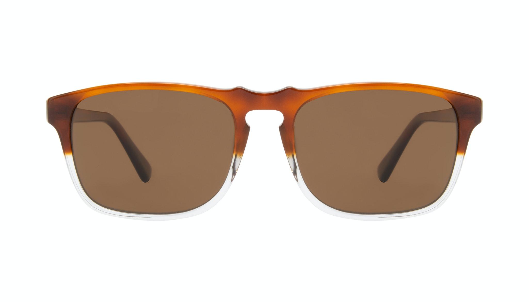 Affordable Fashion Glasses Square Sunglasses Men Raceway Havana Clear Front