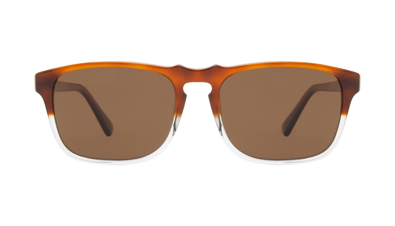 Affordable Fashion Glasses Square Sunglasses Men Raceway Havana Clear
