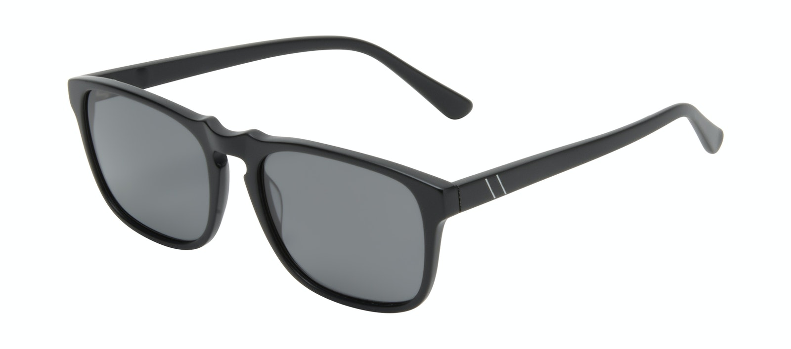 Affordable Fashion Glasses Square Sunglasses Men Raceway Onyx Matte Tilt
