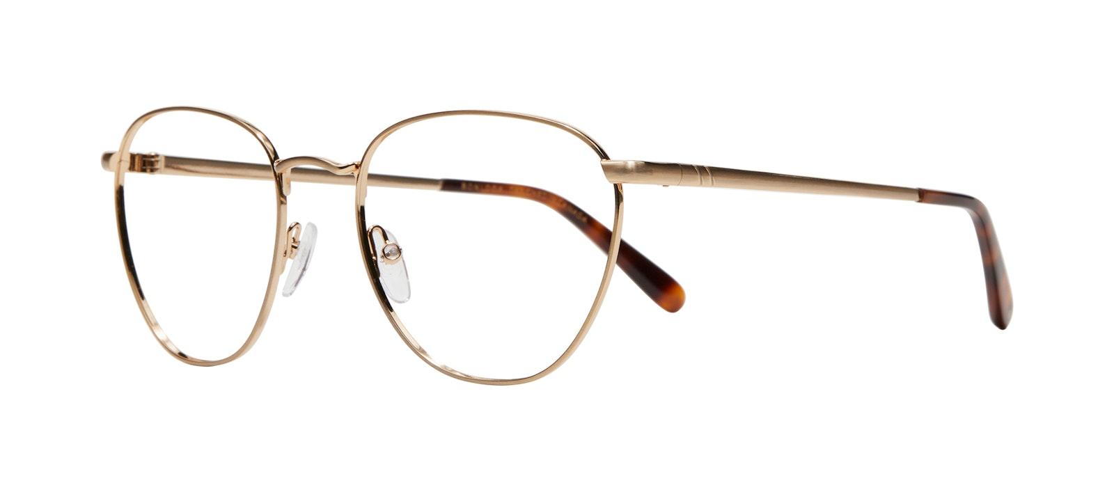 Affordable Fashion Glasses Round Eyeglasses Women Radiant Matte Gold Tilt