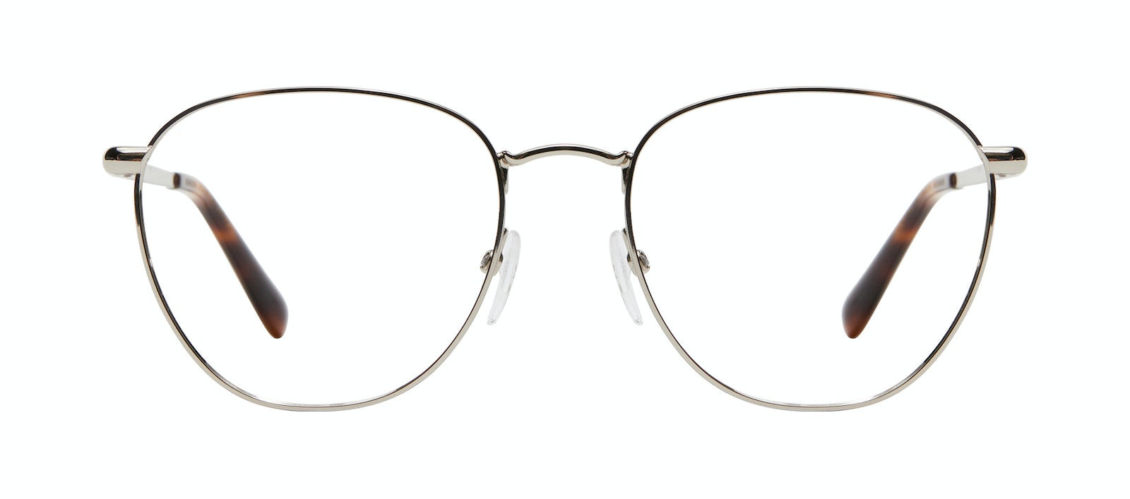 Affordable Fashion Glasses Round Eyeglasses Women Radiant L Silver Front