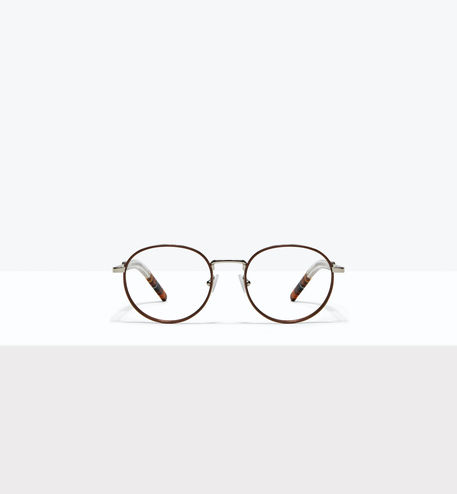 Affordable Fashion Glasses Round Eyeglasses Men Reach Brown Steel