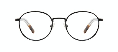 Affordable Fashion Glasses Round Eyeglasses Men Reach Matte Black Front