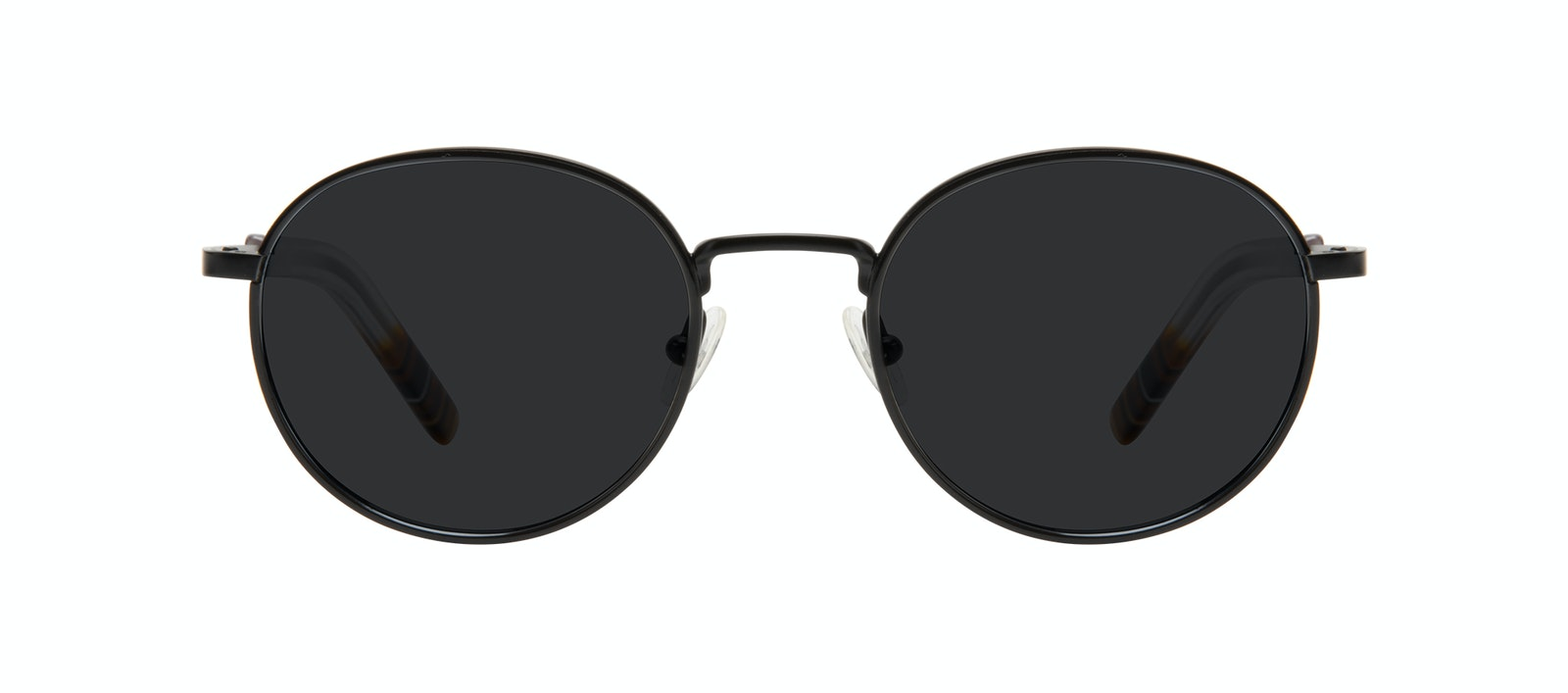 Affordable Fashion Glasses Round Sunglasses Men Reach Matte Black Front