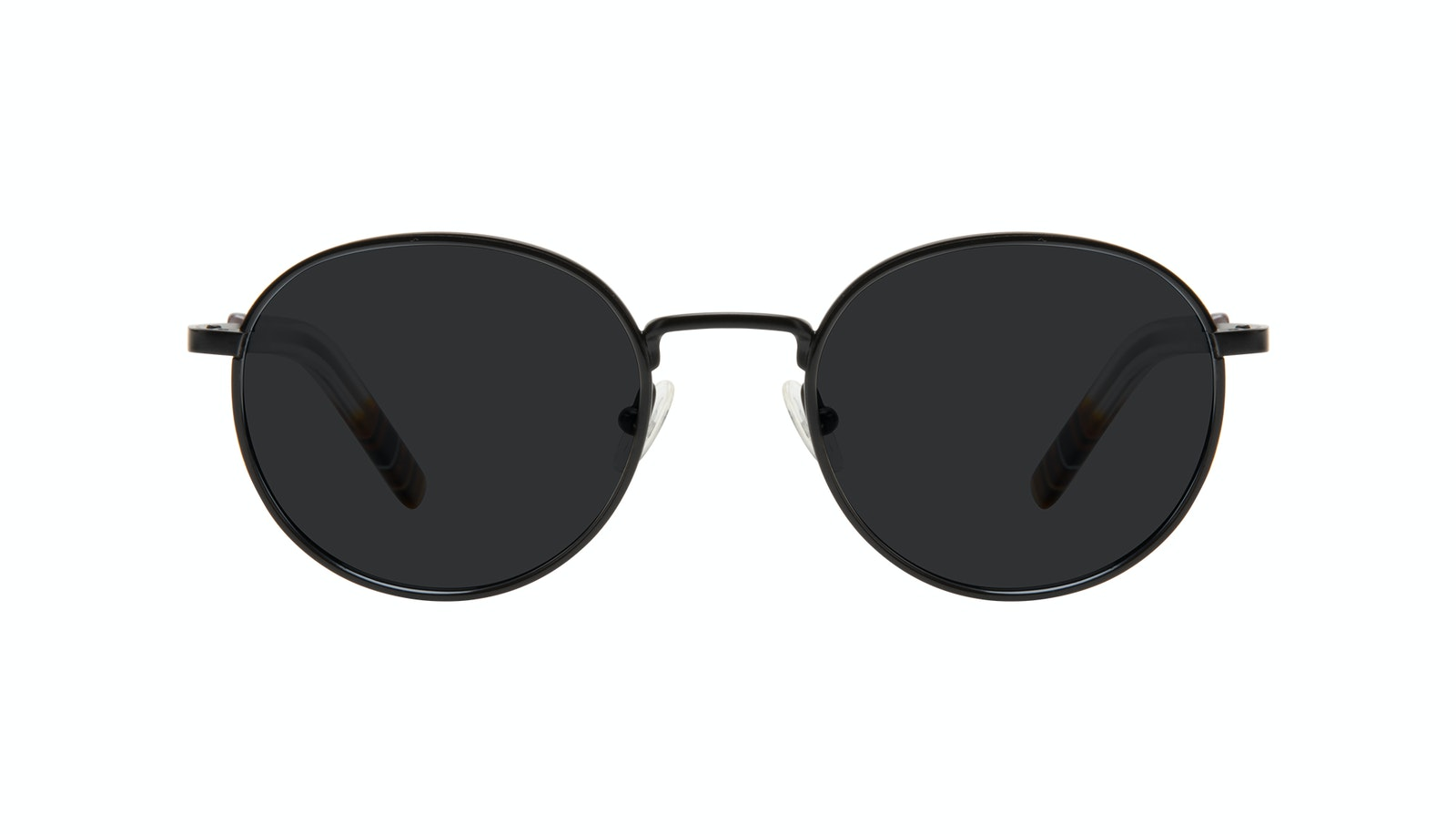 Affordable Fashion Glasses Round Sunglasses Men Reach Matte Black