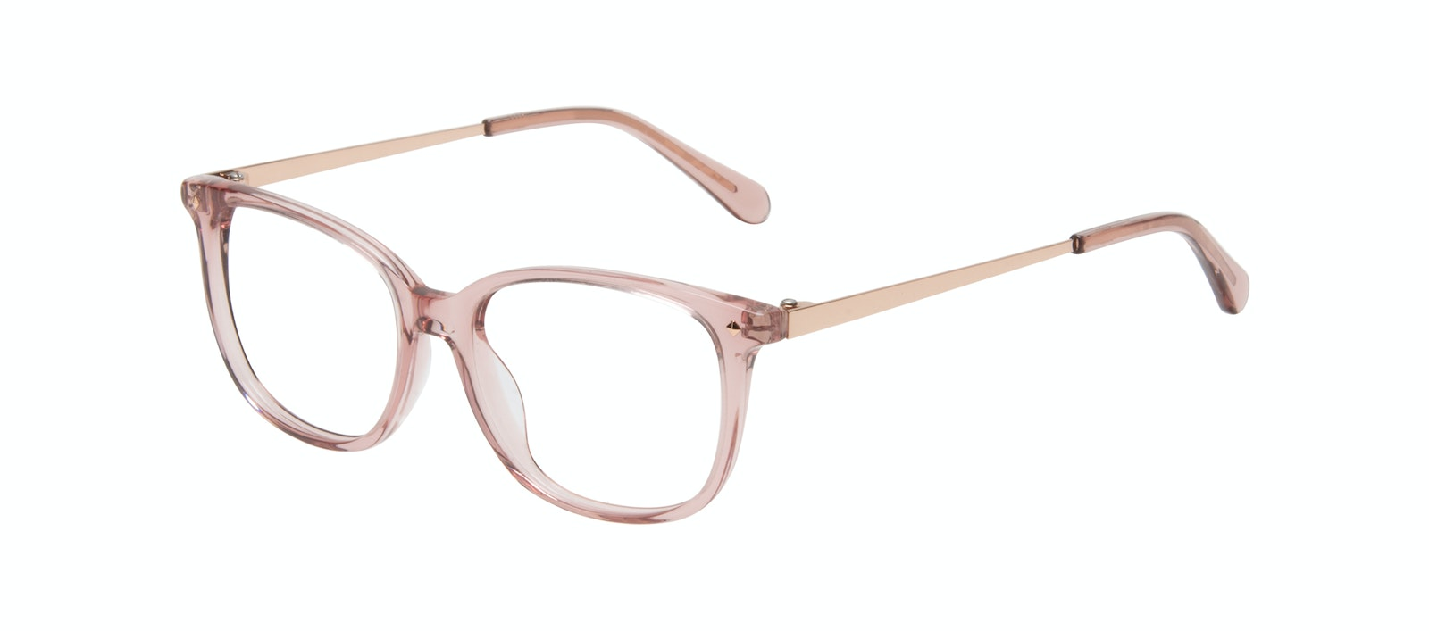 Affordable Fashion Glasses Rectangle Square Eyeglasses Women Refine XS Rose Tilt