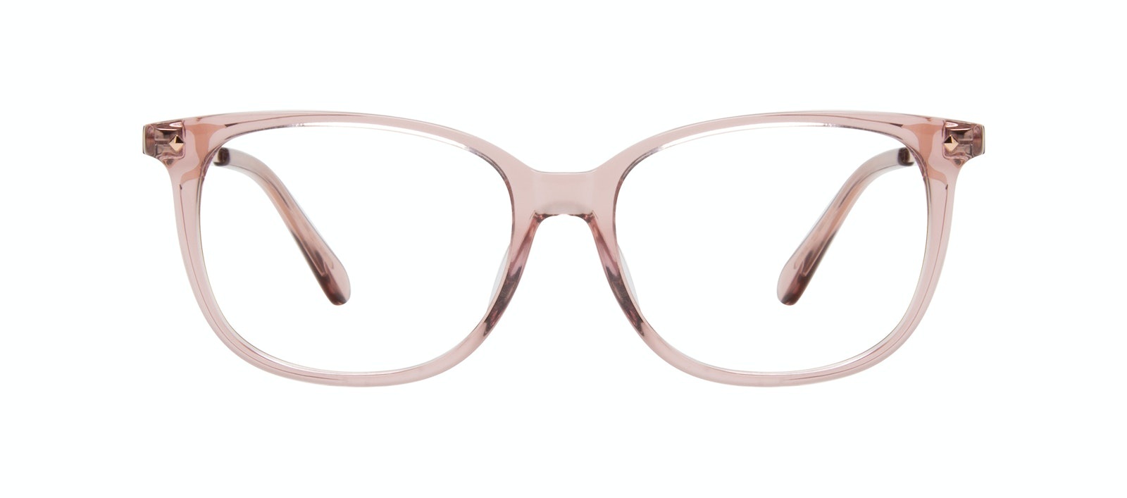 Affordable Fashion Glasses Rectangle Square Eyeglasses Women Refine XS Rose Front
