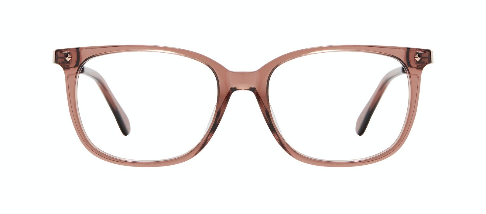 Affordable Fashion Glasses Rectangle Square Eyeglasses Women Refine Dark Terra Front