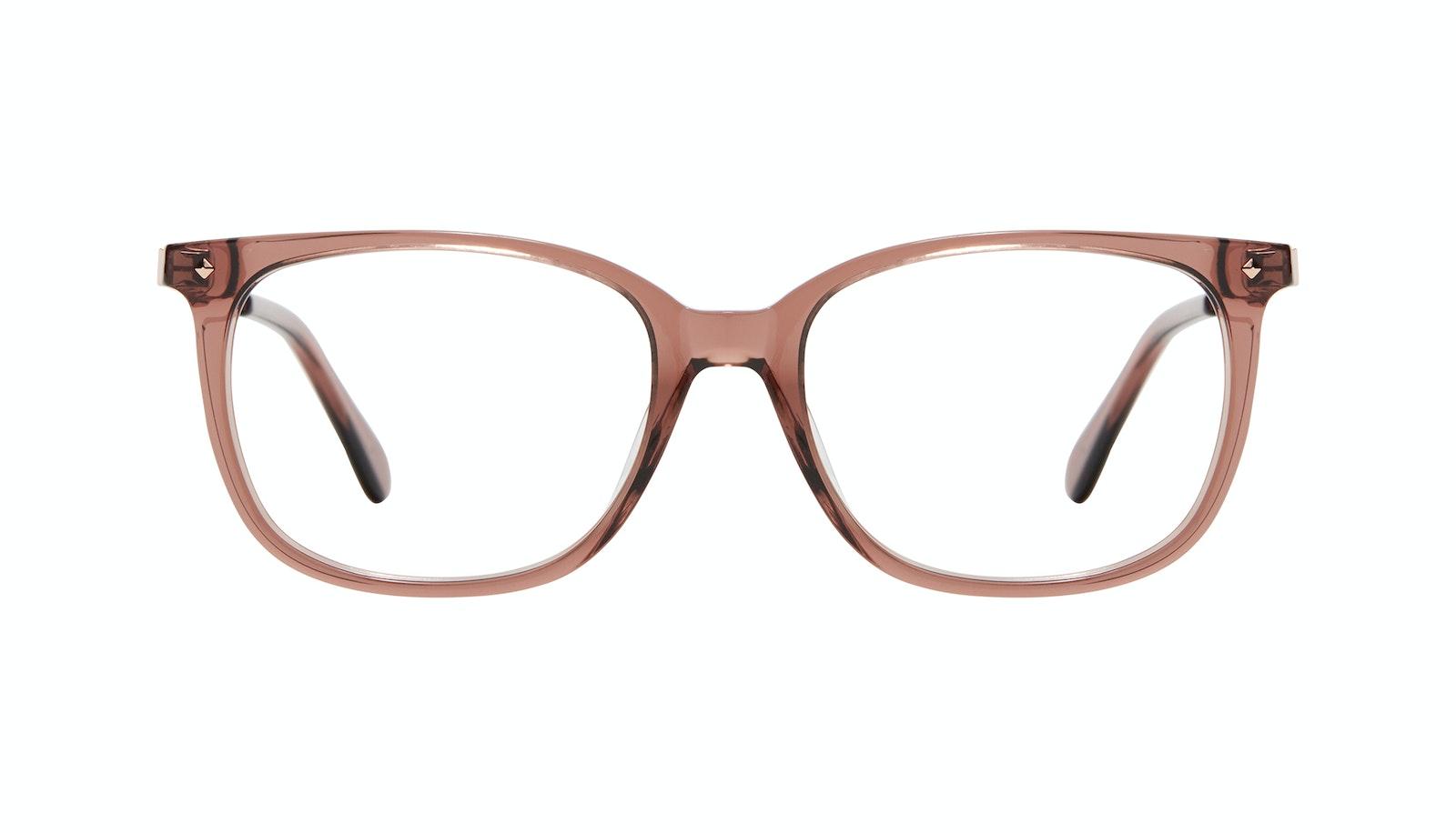 Affordable Fashion Glasses Rectangle Square Eyeglasses Women Refine Dark Terra