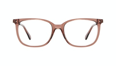 Affordable Fashion Glasses Rectangle Square Eyeglasses Women Refine Dark Terra Front