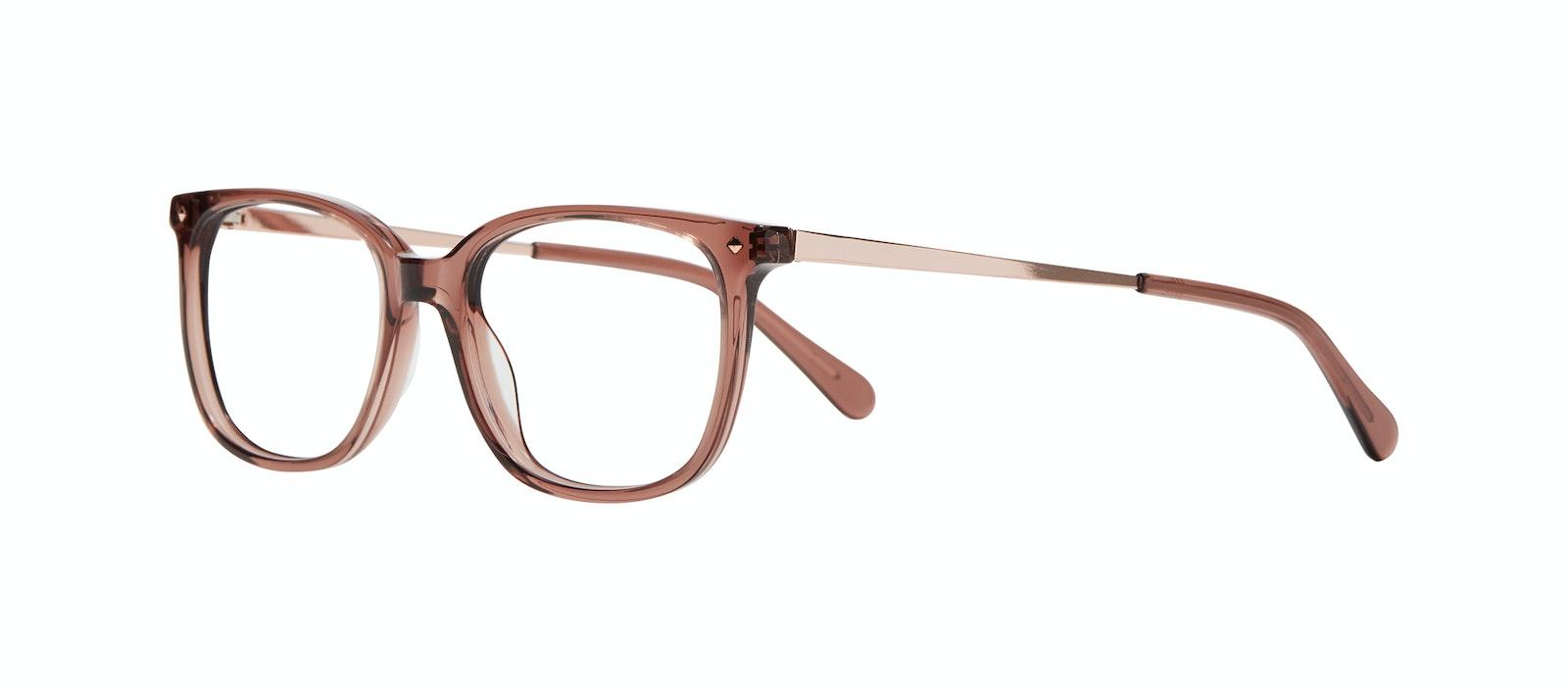 Affordable Fashion Glasses Rectangle Square Eyeglasses Women Refine Dark Terra Tilt