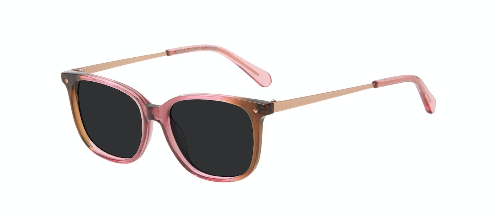 Affordable Fashion Glasses Square Sunglasses Women Refine Petite Garnet Tilt