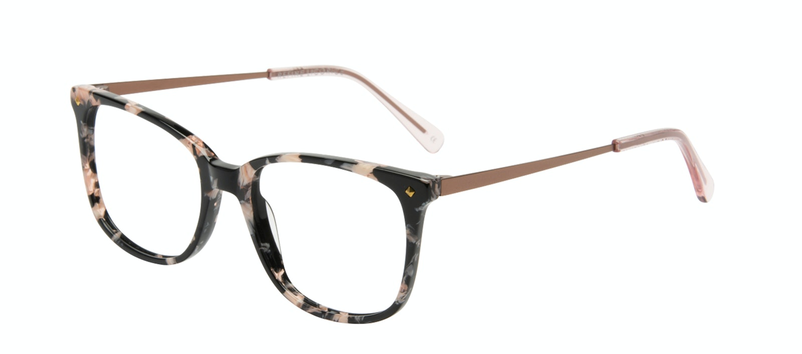 Affordable Fashion Glasses Rectangle Square Eyeglasses Women Refine Licorice Tilt