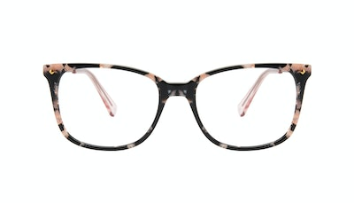 Affordable Fashion Glasses Rectangle Square Eyeglasses Women Refine Licorice Front