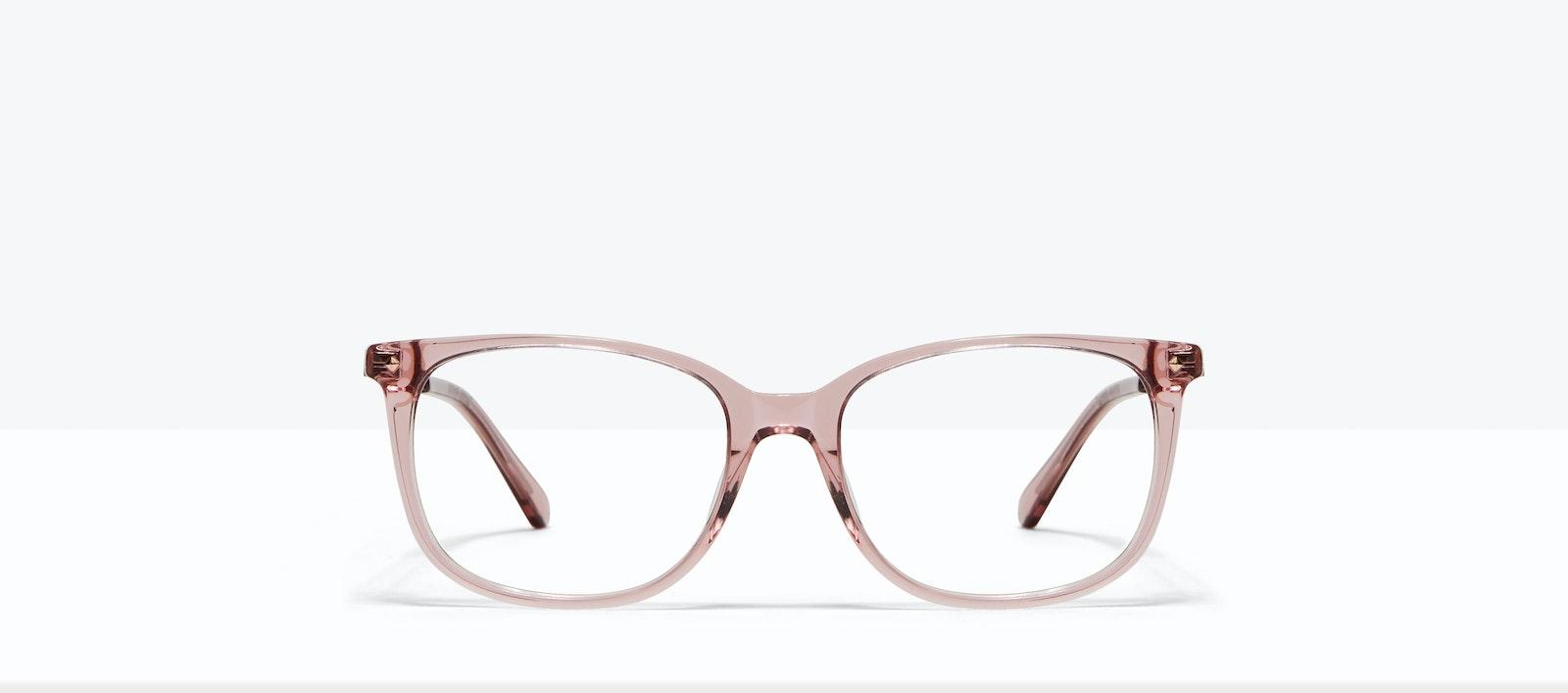Lunettes tendance Rectangle Carrée Lunettes de vue Femmes Refine Rose Face