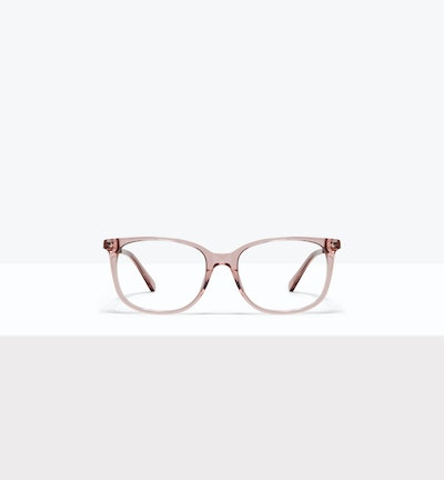 Affordable Fashion Glasses Rectangle Square Eyeglasses Women Refine Rose Front