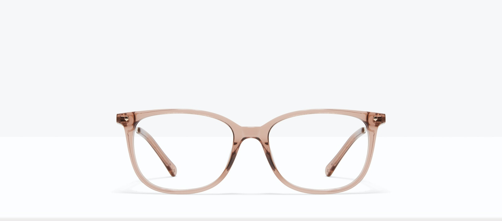 Affordable Fashion Glasses Rectangle Square Eyeglasses Women Refine M Rose Front