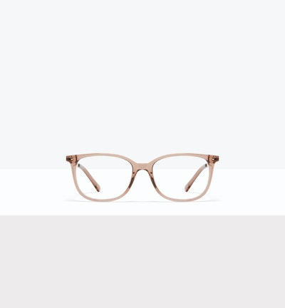 Affordable Fashion Glasses Rectangle Square Eyeglasses Women Refine M Rose Front
