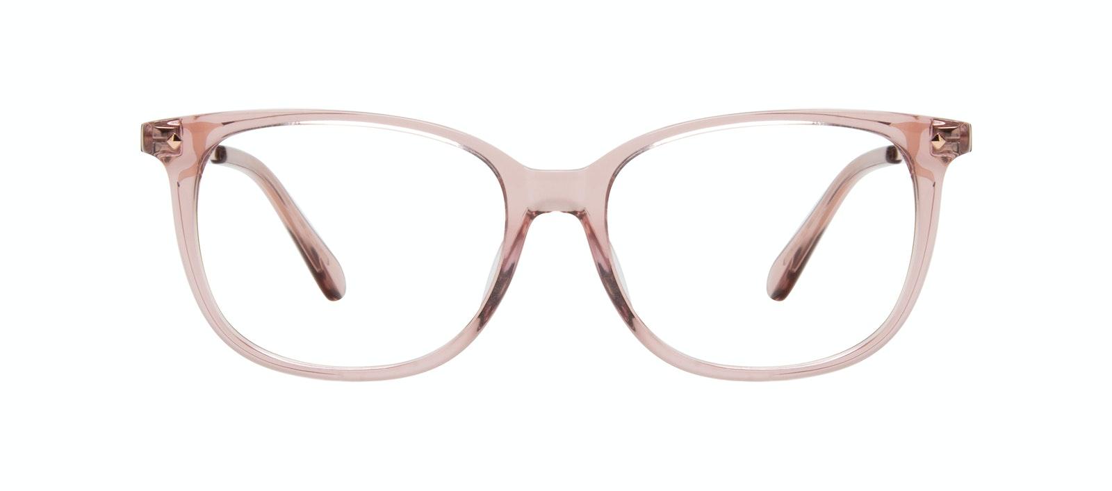 Affordable Fashion Glasses Rectangle Square Eyeglasses Women Refine Rose Front