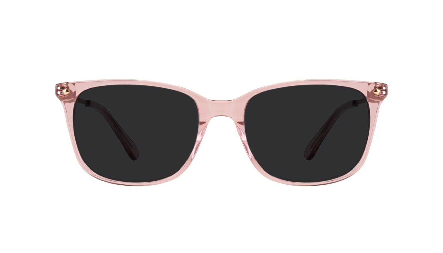 Affordable Fashion Glasses Rectangle Square Sunglasses Women Refine Rose Front