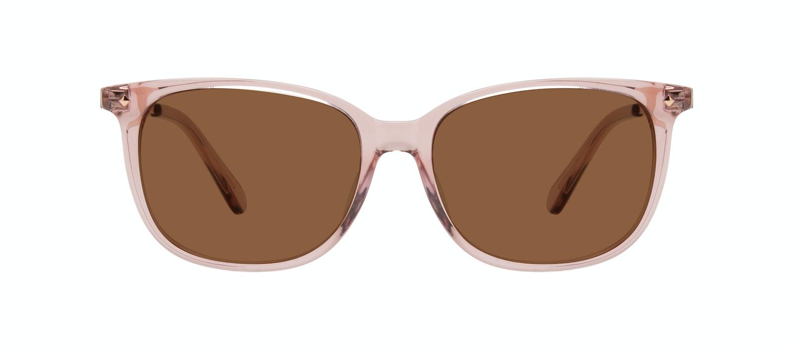 Affordable Fashion Glasses Square Sunglasses Women Refine Petite Rose Front