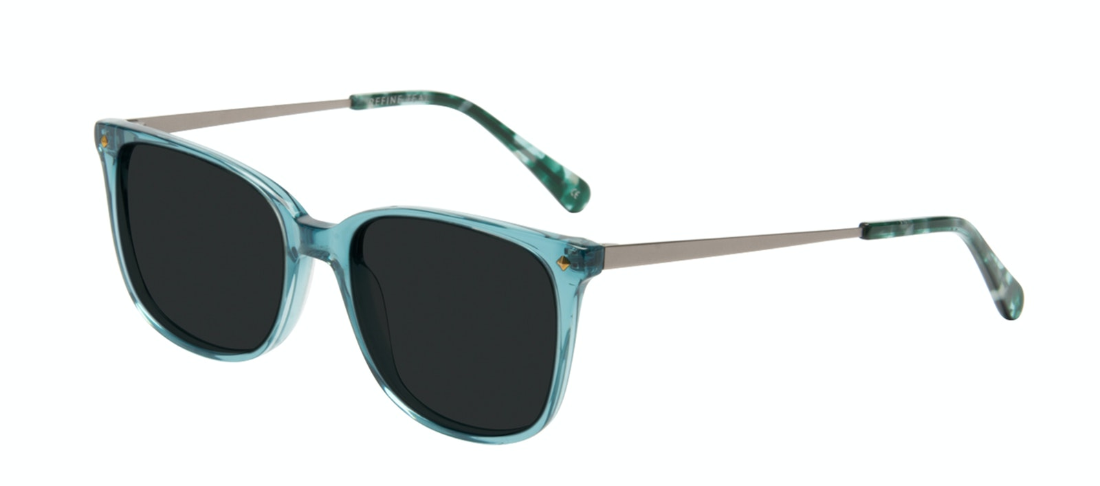 Affordable Fashion Glasses Rectangle Square Sunglasses Women Refine Teal Tilt
