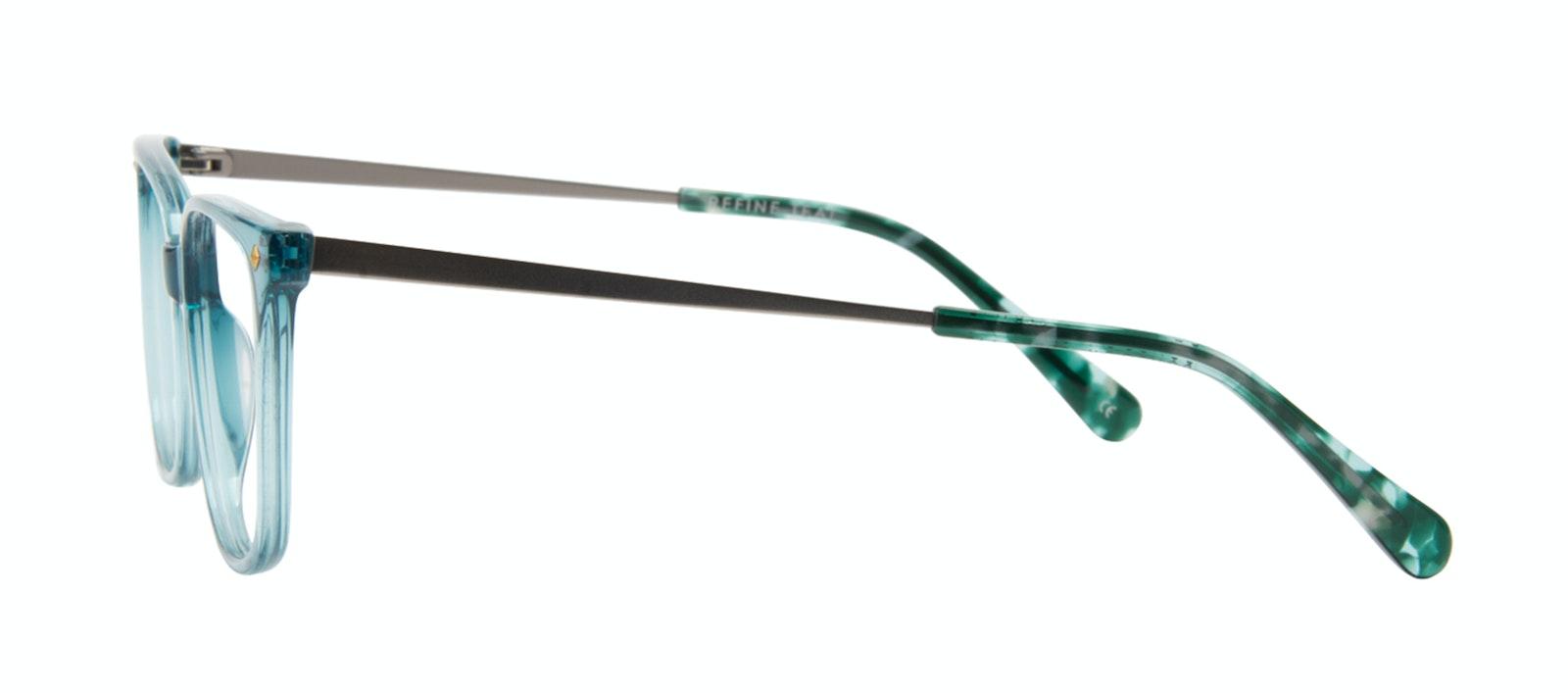 Affordable Fashion Glasses Rectangle Square Eyeglasses Women Refine Teal Side