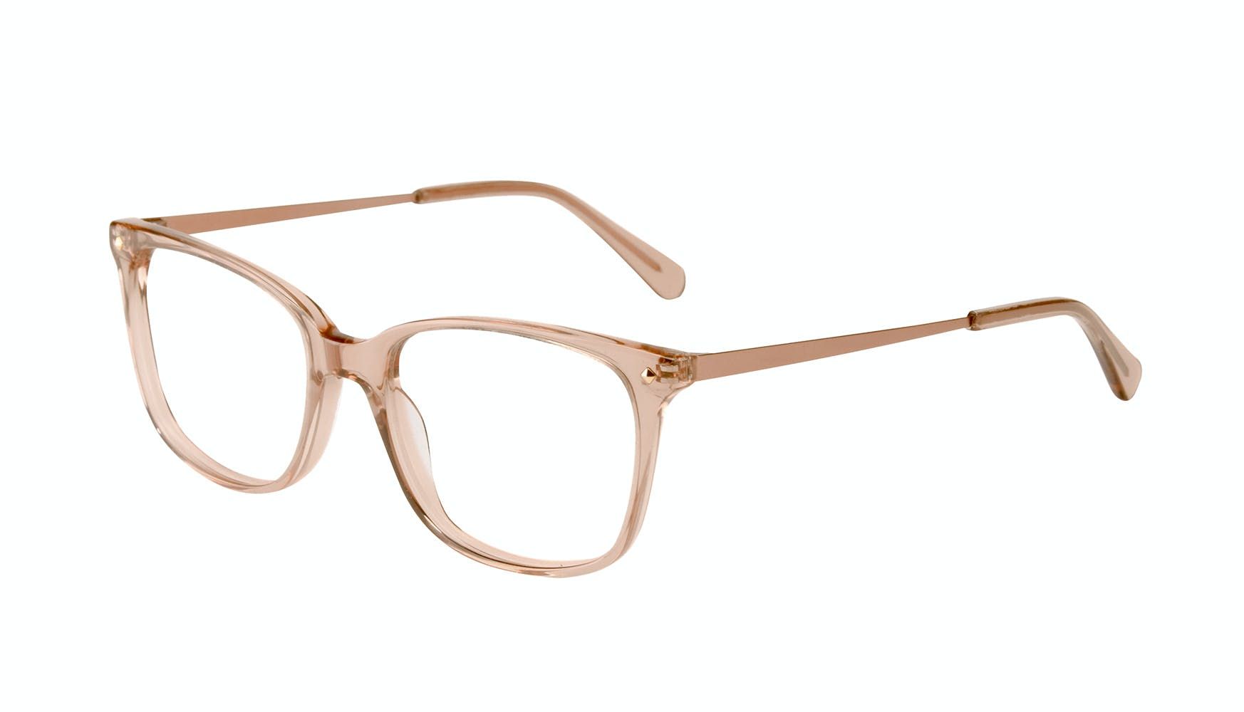Affordable Fashion Glasses Rectangle Square Eyeglasses Women Refine Toffee Tilt