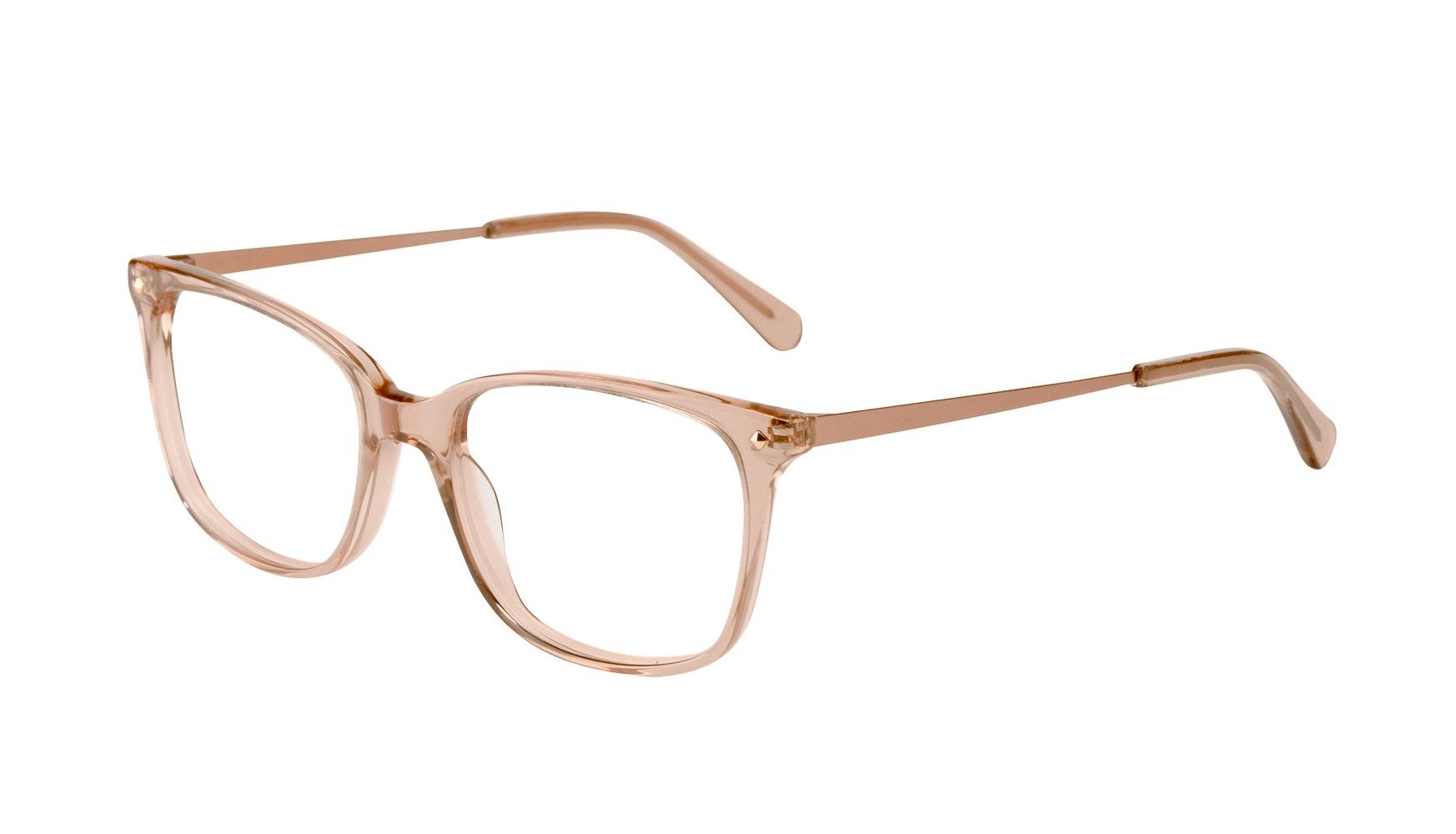 Affordable Fashion Glasses Rectangle Square Eyeglasses Women Refine Toffee Tilt