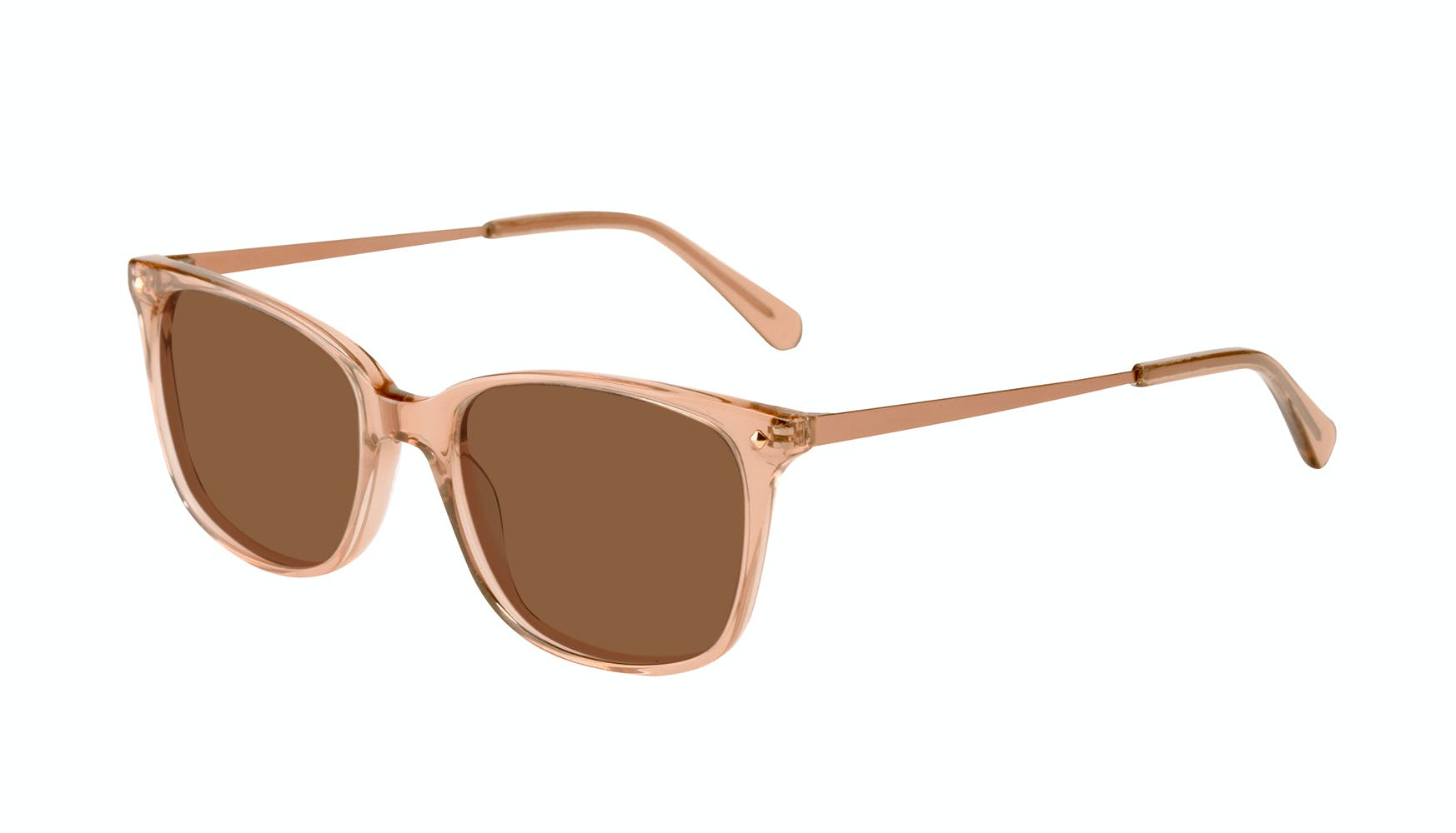Affordable Fashion Glasses Rectangle Square Sunglasses Women Refine Toffee Tilt
