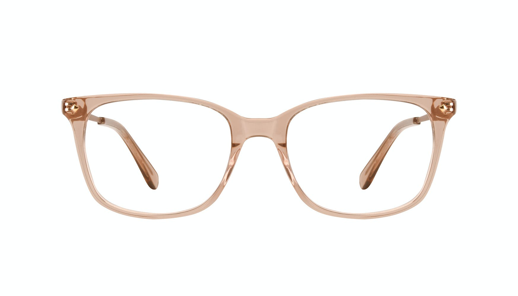 Affordable Fashion Glasses Rectangle Square Eyeglasses Women Refine Toffee Front