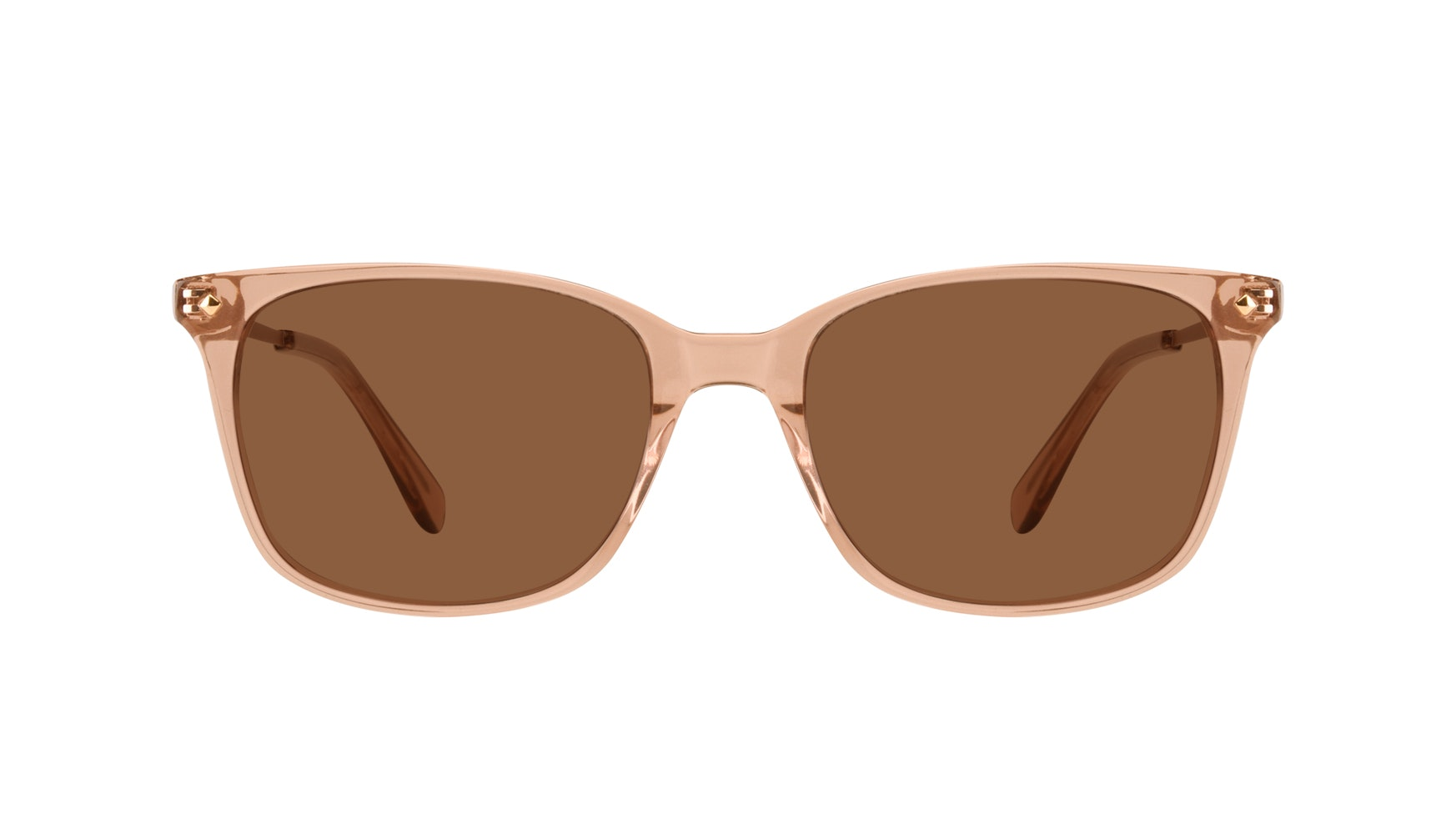 Affordable Fashion Glasses Rectangle Square Sunglasses Women Refine Toffee Front