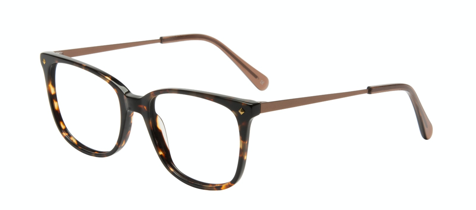 Affordable Fashion Glasses Rectangle Square Eyeglasses Women Refine Tortoise Tilt