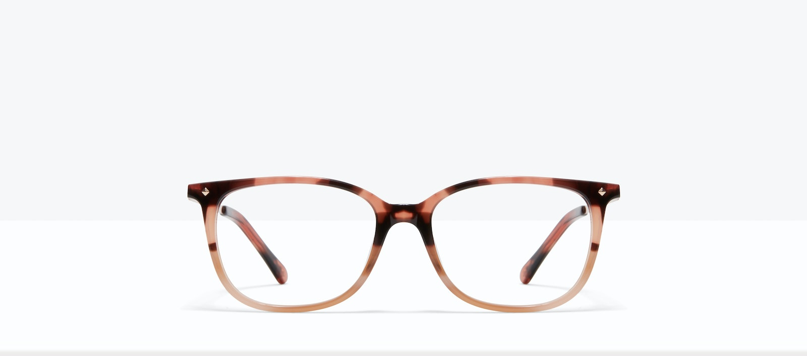 Affordable Fashion Glasses Rectangle Square Eyeglasses Women Refine M Two Tone Pink Tort Front