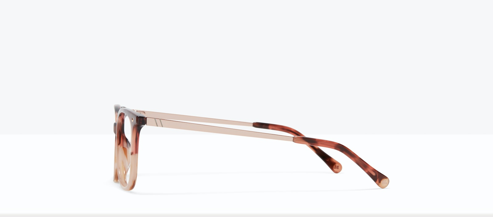 Affordable Fashion Glasses Rectangle Square Eyeglasses Women Refine M Two Tone Pink Tort Side