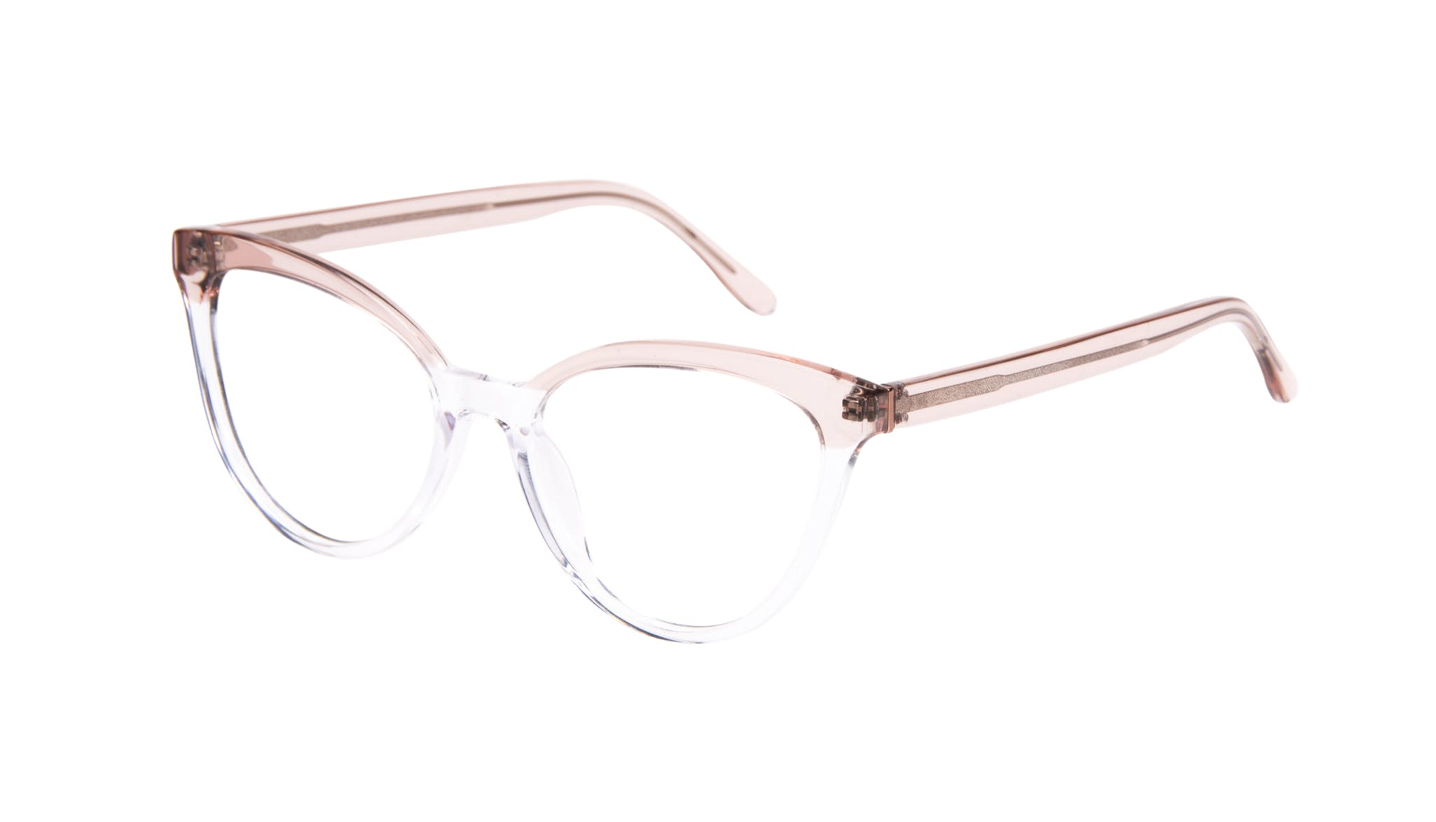 Affordable Fashion Glasses Cat Eye Daring Cateye Eyeglasses Women Reverie Clear rose Tilt