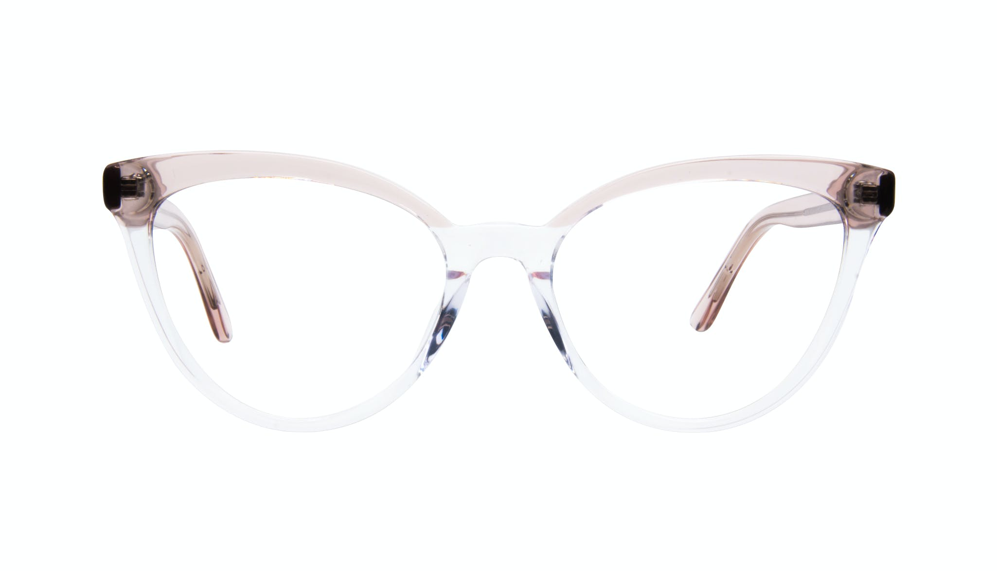 Affordable Fashion Glasses Cat Eye Daring Cateye Eyeglasses Women Reverie Clear rose Front