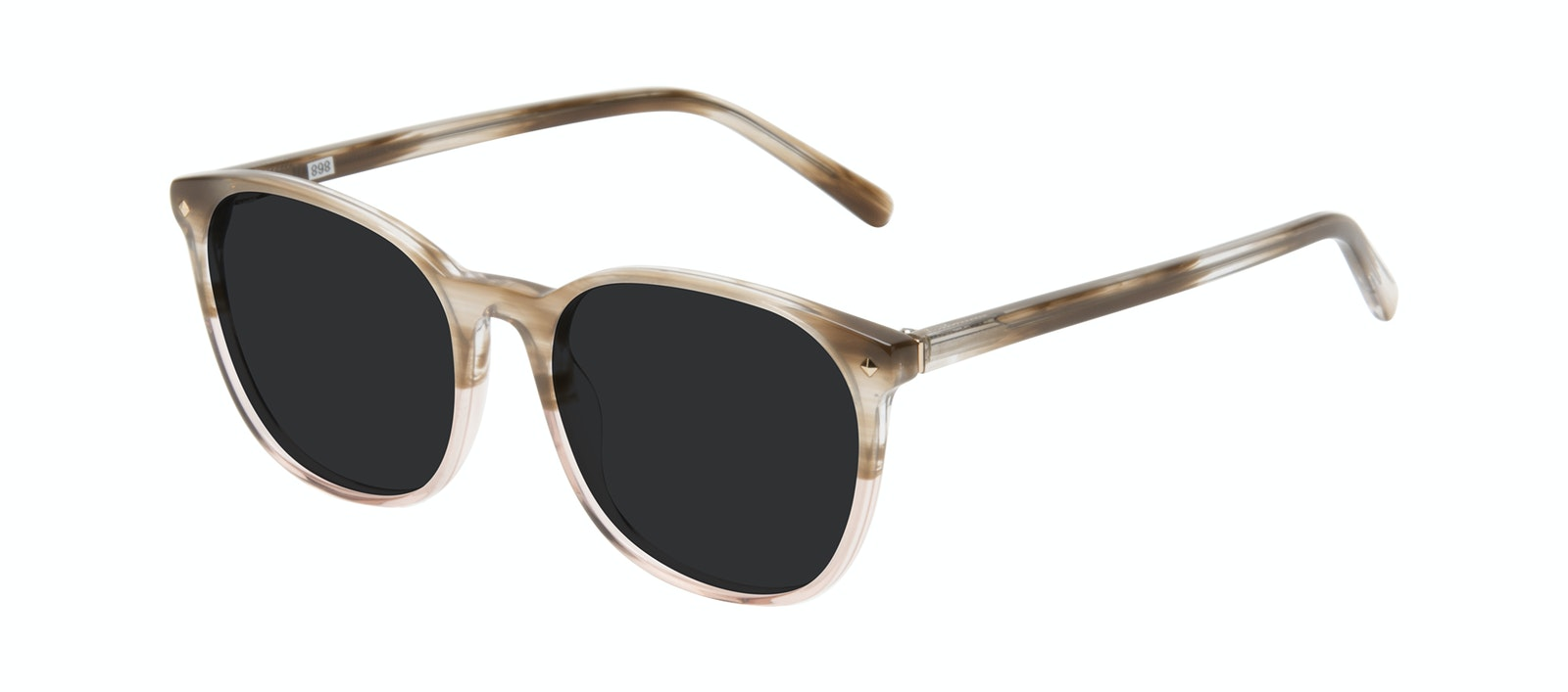 Affordable Fashion Glasses Round Sunglasses Women Revive Rosewood Tilt