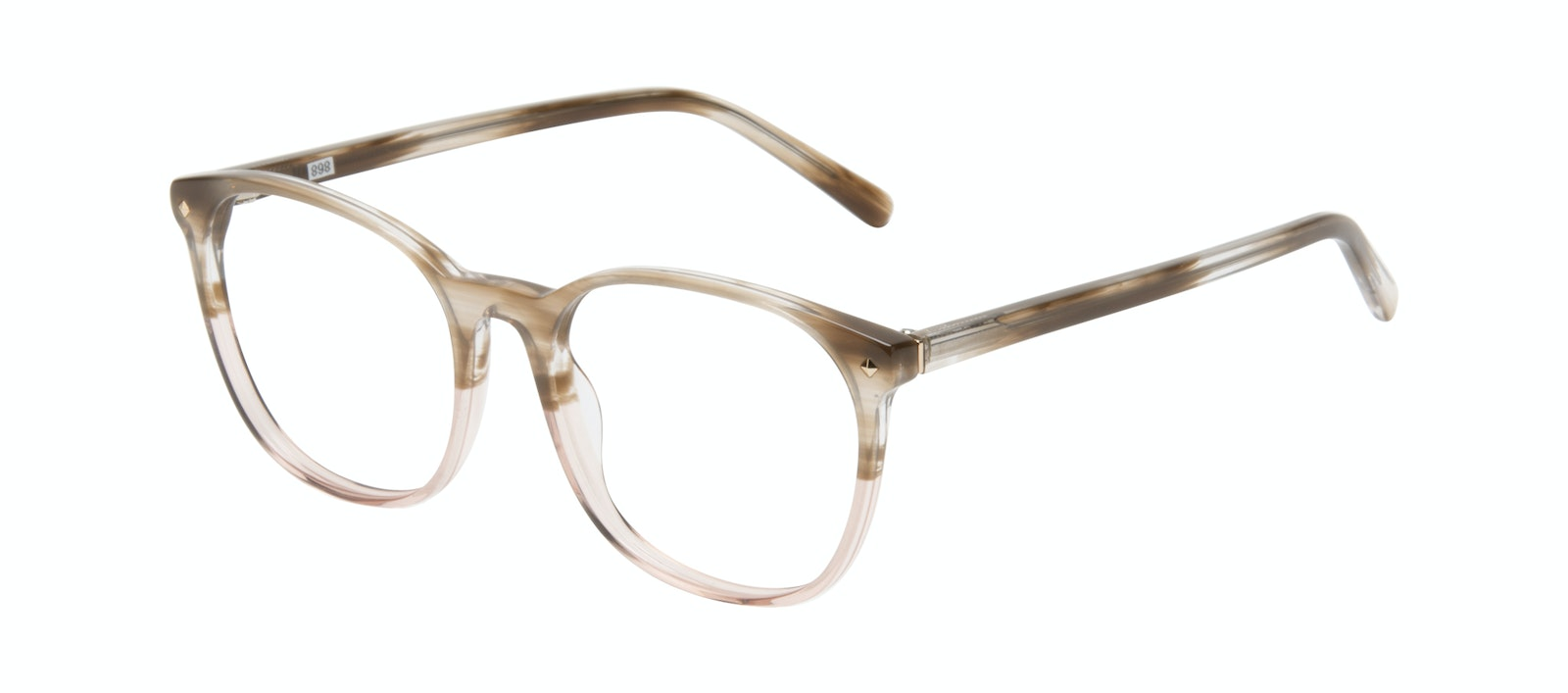 Affordable Fashion Glasses Round Eyeglasses Women Revive Rosewood Tilt