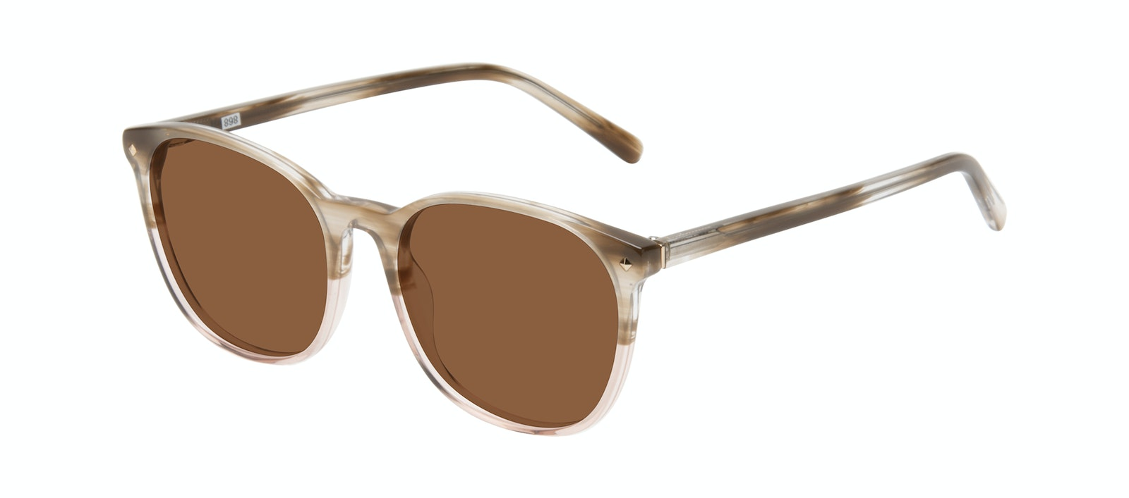 Affordable Fashion Glasses Round Sunglasses Women Revive Rosewood Tilt